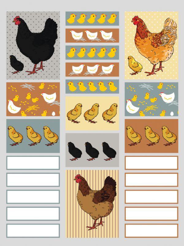 Planner Stickers: Happy Hens