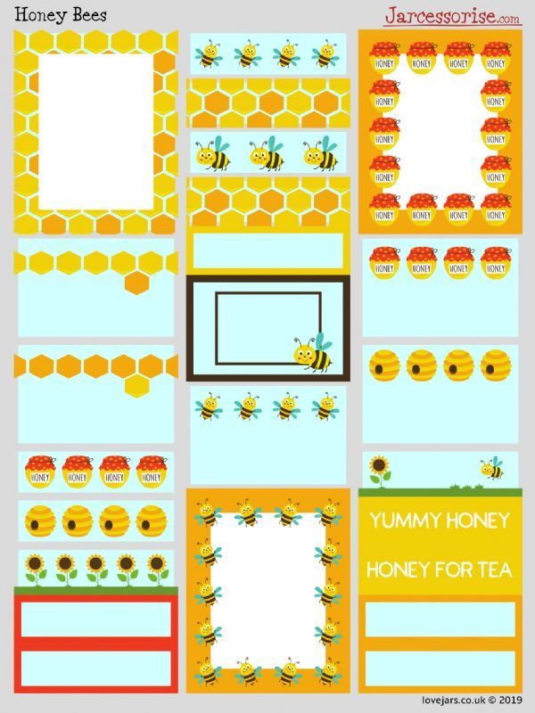 Planner Stickers: Honey Bees