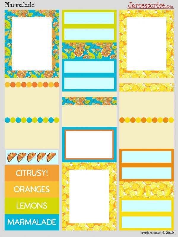 Planner Stickers: Marmalade