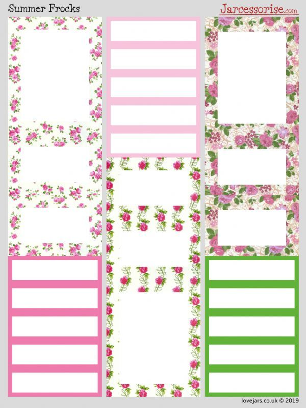 Planner Stickers: Summer Frocks