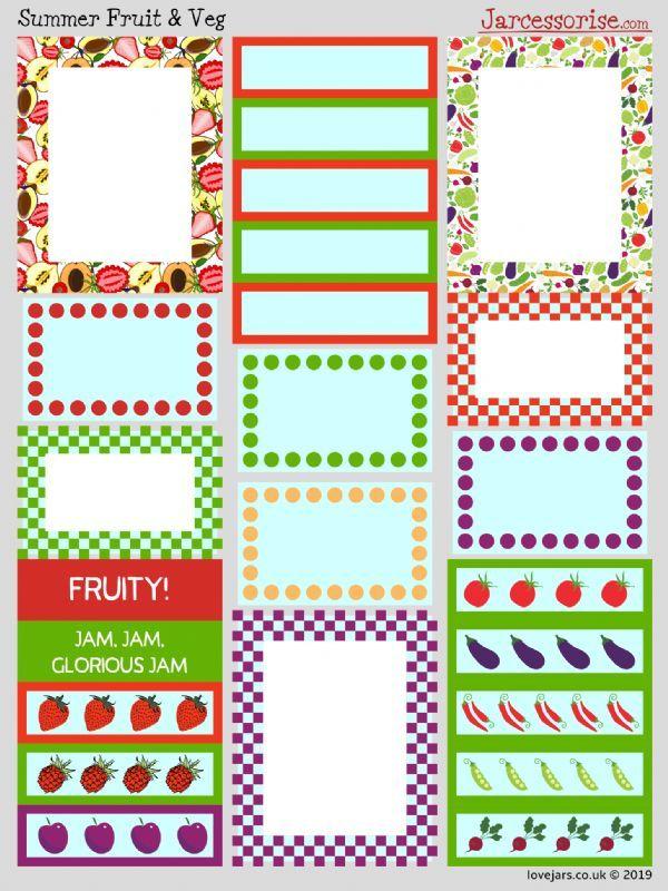 Planner Stickers: Summer Fruit & Veg