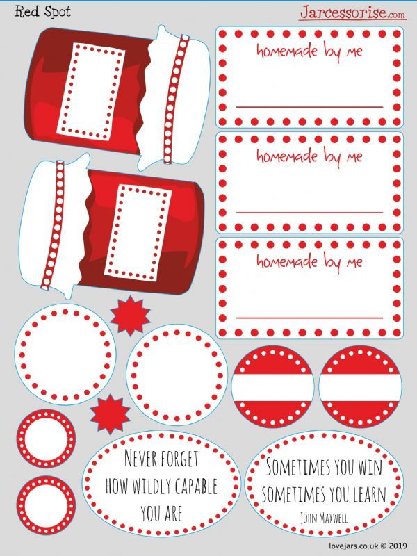 Planner Stickers: Red Spot Jars