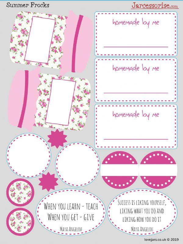 Planner Stickers: Summer Frocks Jars