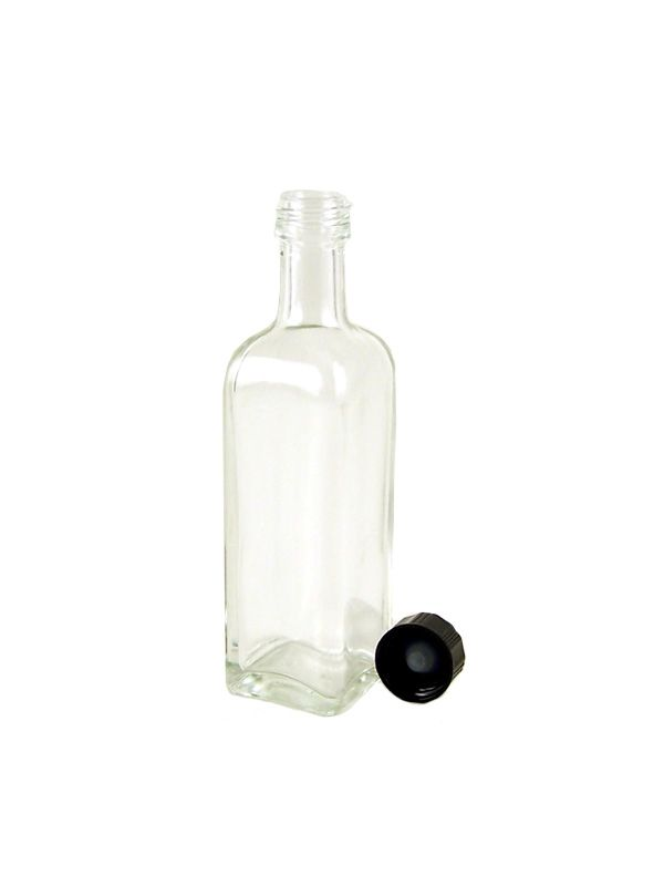 Glass Bottle Minella 60ml with White Cap x117