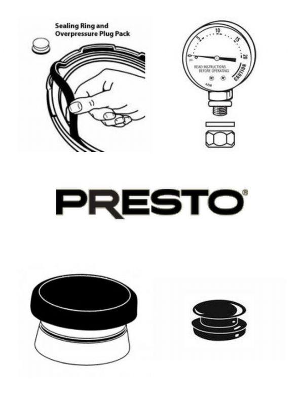 Presto Pressure Canner 01781 Spare Parts