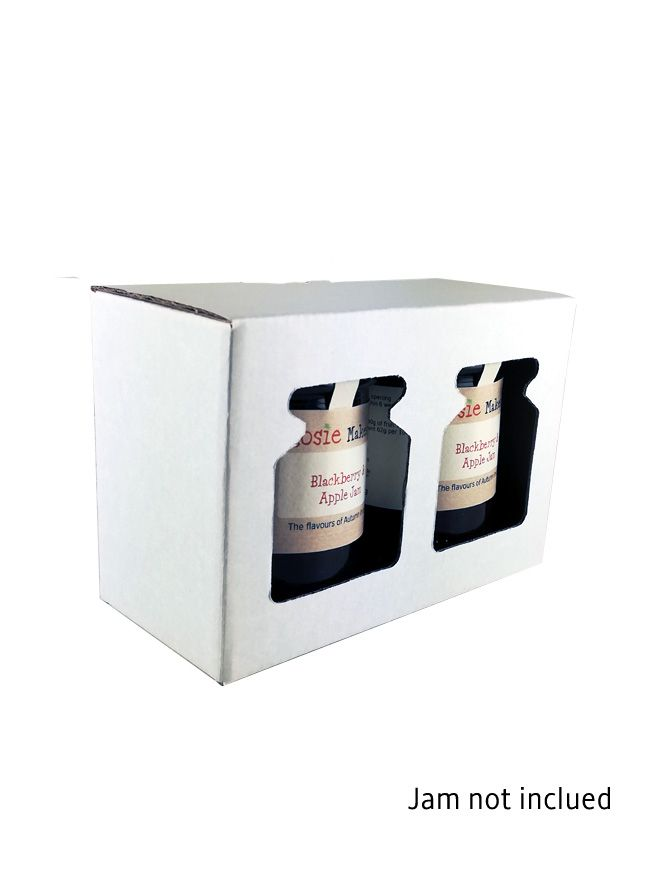 Retail Display Box White 2x8oz Jars