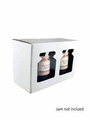 Love jam jars   Retail Display Box White 2x8oz Jars (x10) Pack 10