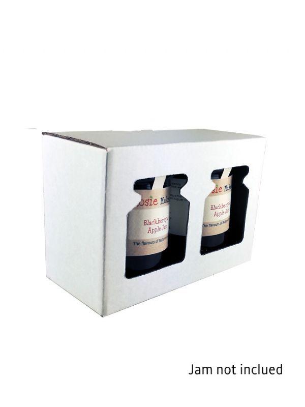 Retail Display Box White 2x8oz Jars 1