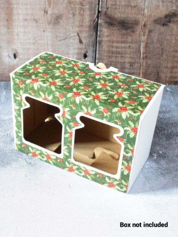 Christmas Green Holly Labels for 2x8oz Retail Box (x10) 1