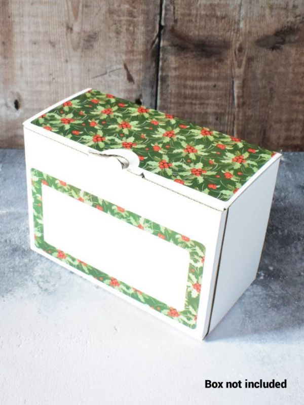 Christmas Green Holly Labels for 2x8oz Retail Box (x10) 2