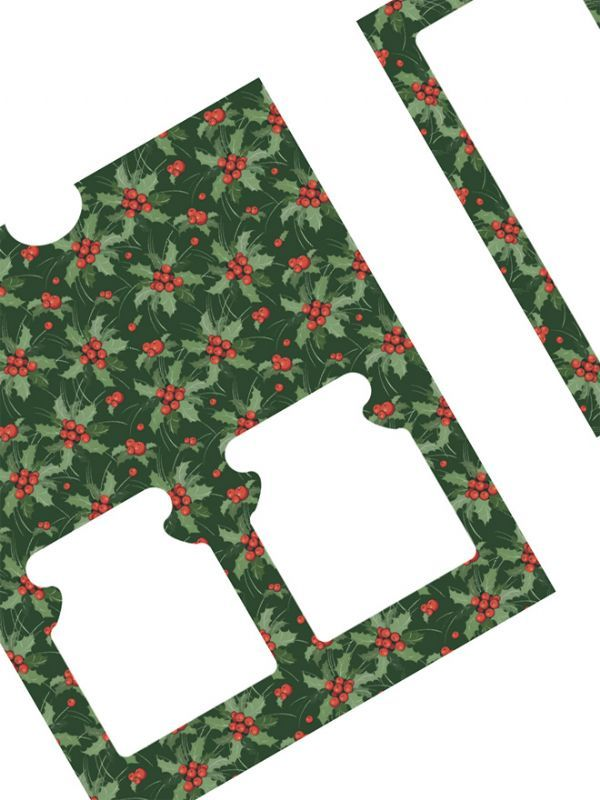 Christmas Green Holly Labels for 2x8oz Retail Box (x10) 3