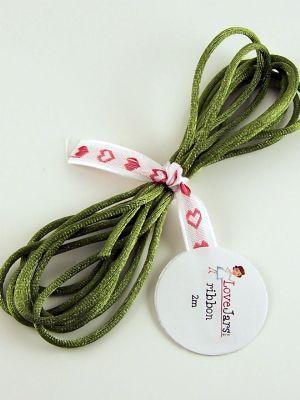 Love jam jars | G Moss Green Rat Tail Ribbon