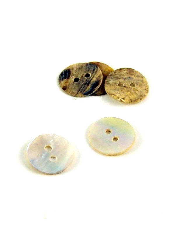 Mother of Pearl Round Button