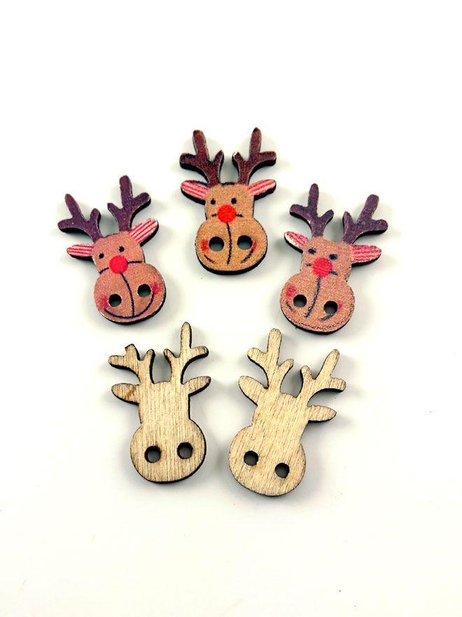 Reindeer Buttons