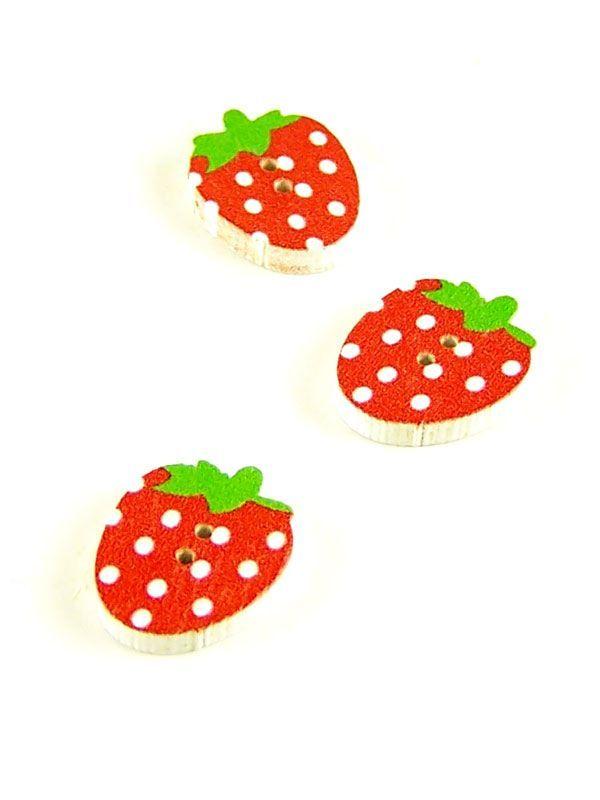 Spotty Strawberry Button