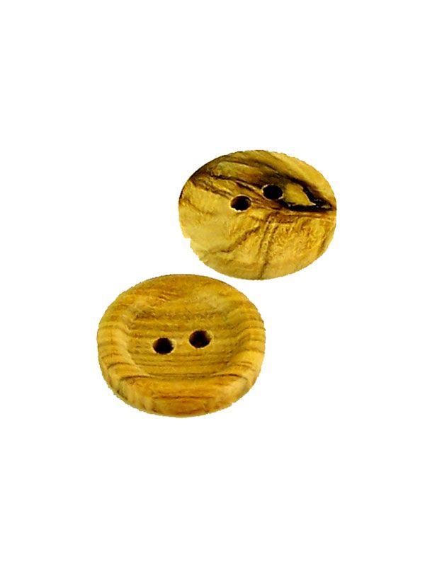 Round Wooden Button