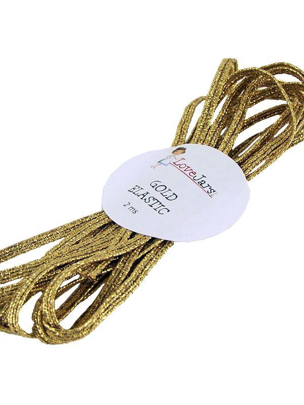 Elastic Braid Gold 2m