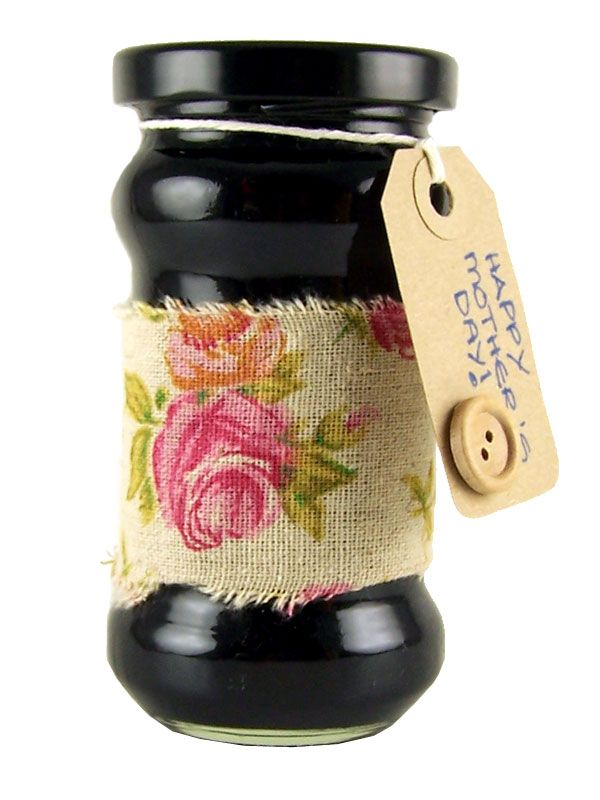 Jar Wraps - Fabric Rose Print 50cm