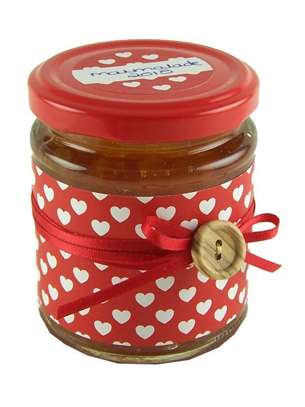 Jar Wraps - Red Hearts