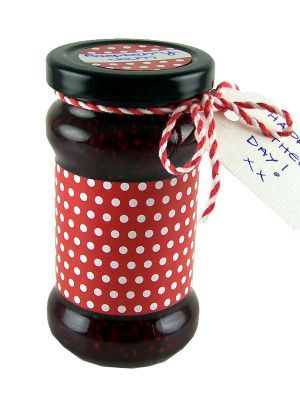 Love jam jars | B Jar Wrap Red Spot