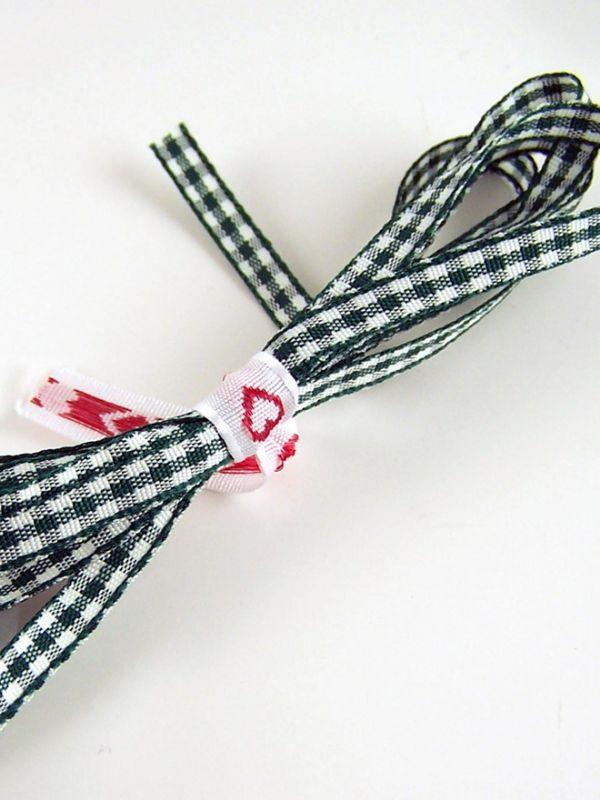 Ribbon Green Gingham 5mm x 2m