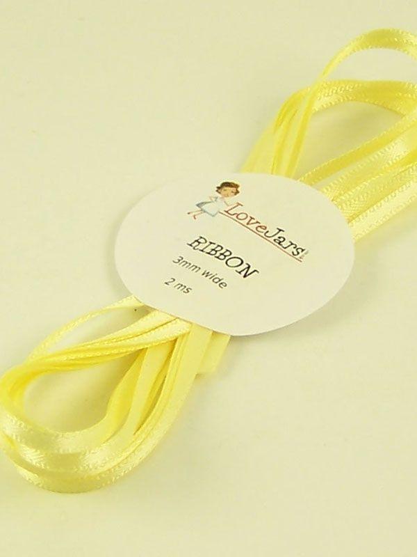 Ribbon Butter Yellow 3mm x 2m