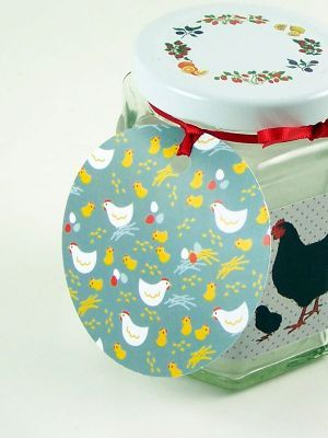 Love jam jars | E Chickens grey gift tag