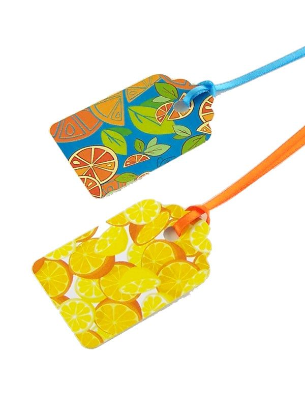 Luggage Tags with Ribbon
