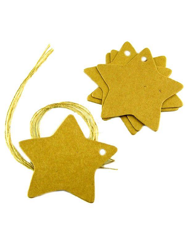 Kraft Strung Gift Tag: Star