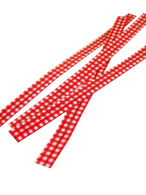 Twist Ties Red Check x10