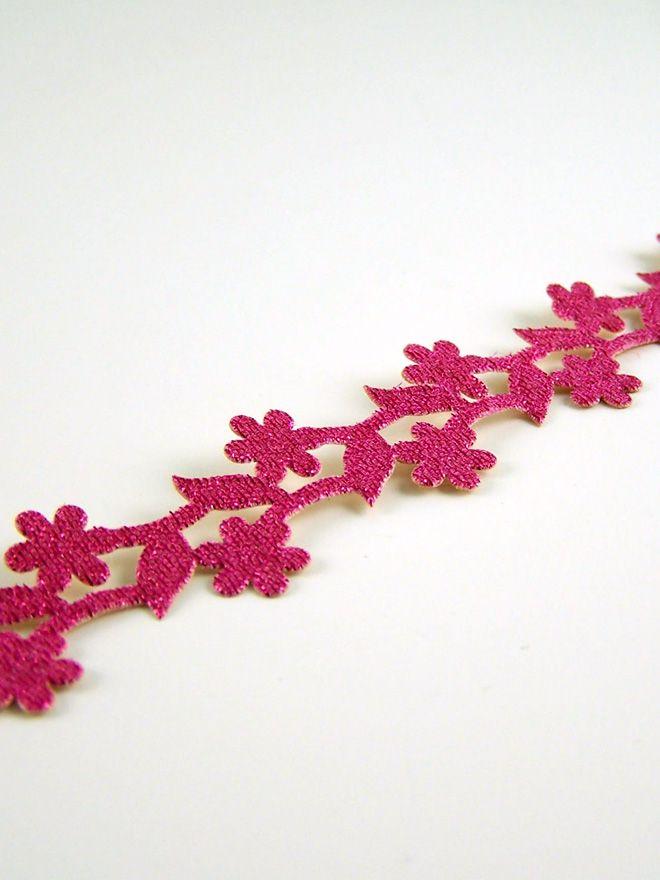 Pink Flower Trim 50cm
