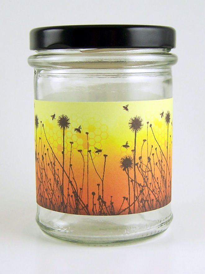 Jar Wraps - Honey Bees Meadows