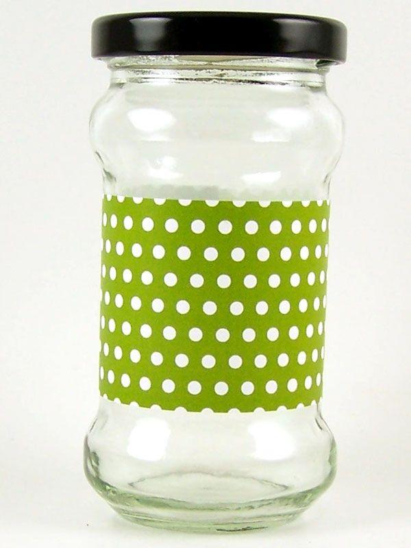 Jar Wraps - Lime Green Spot