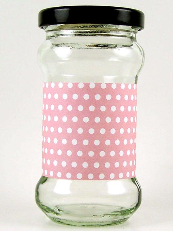 Jar Wraps - Pink Spot DISC