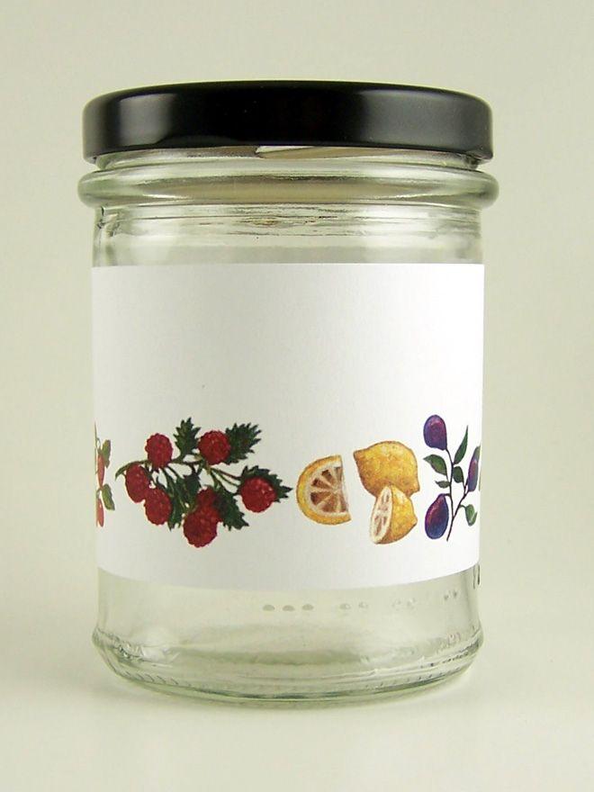 Jar Wraps - Classic Fruits Stripe