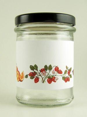 Love jam jars | C Classic Fruits Stripe Jar Wrap