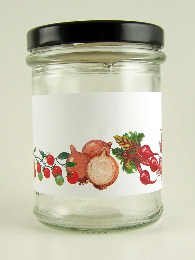 Jar Wraps - Classic Vegetable Stripe
