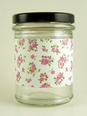 Love jam jars | H Roses Sprig Jar Wrap