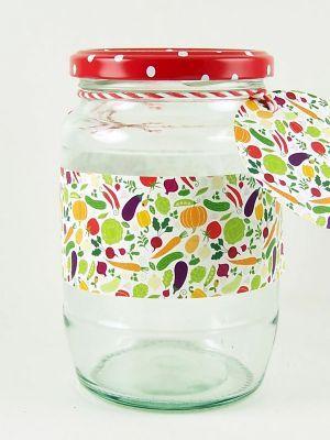 Love jam jars | A Summer Veggies jar wrap