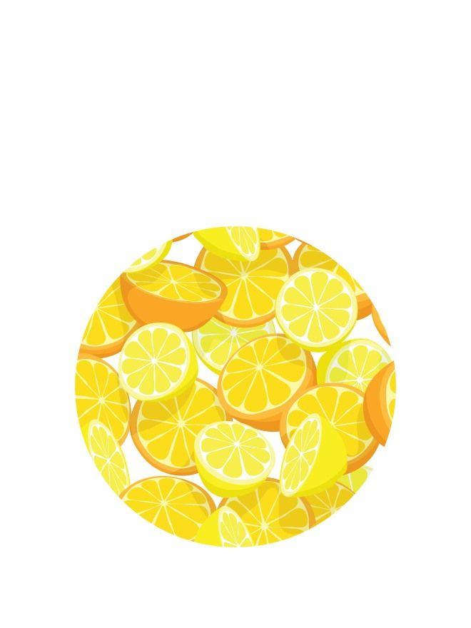 Lid Topper 40mm Orange & Lemon
