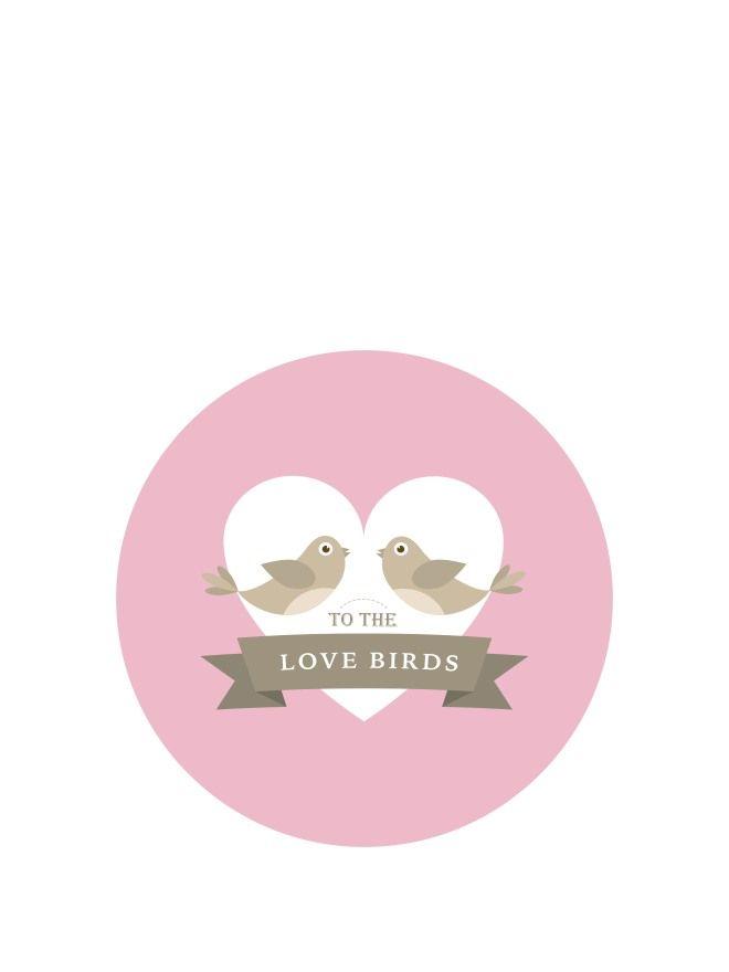 Lid Topper 40mm Wedding Belles