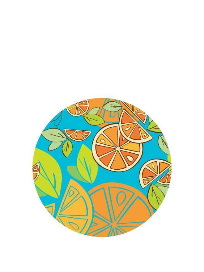 Lid Topper 40mm Mixed Citrus