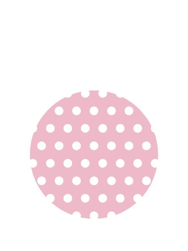 Lid Topper 40mm Pink Spot