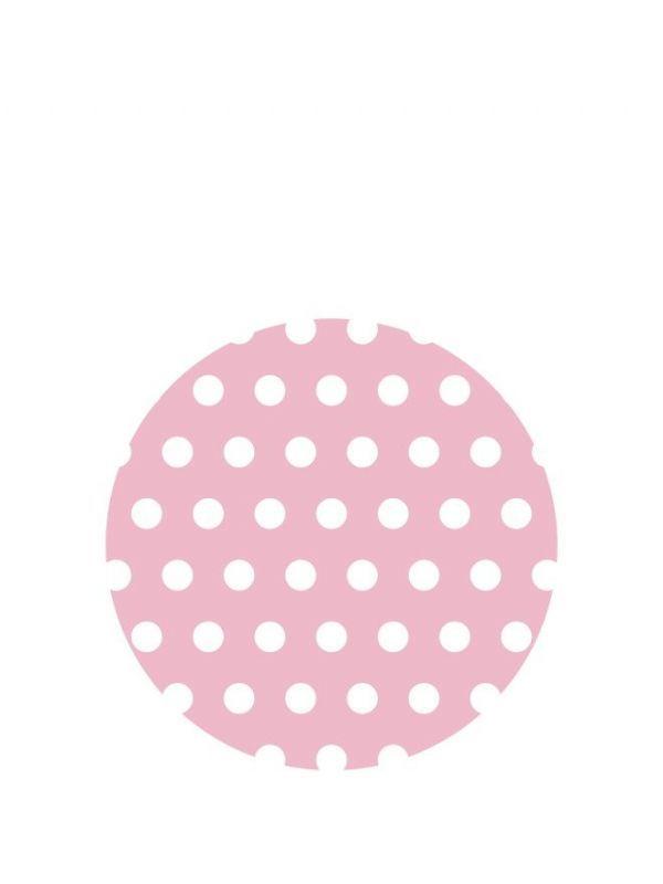 Lid Topper 40mm Pink Spot DISC