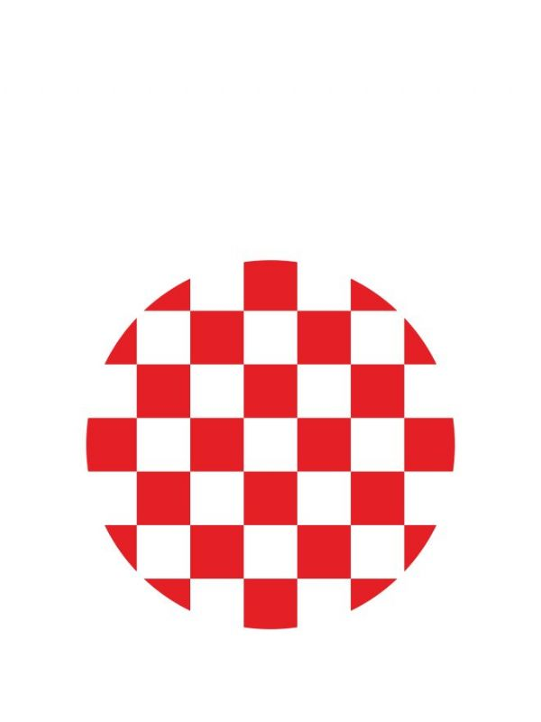 Lid Topper 40mm Red Gingham