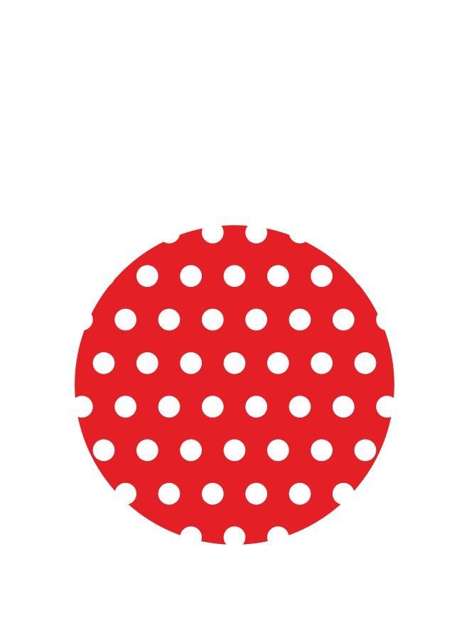 Lid Topper 40mm Red Spot