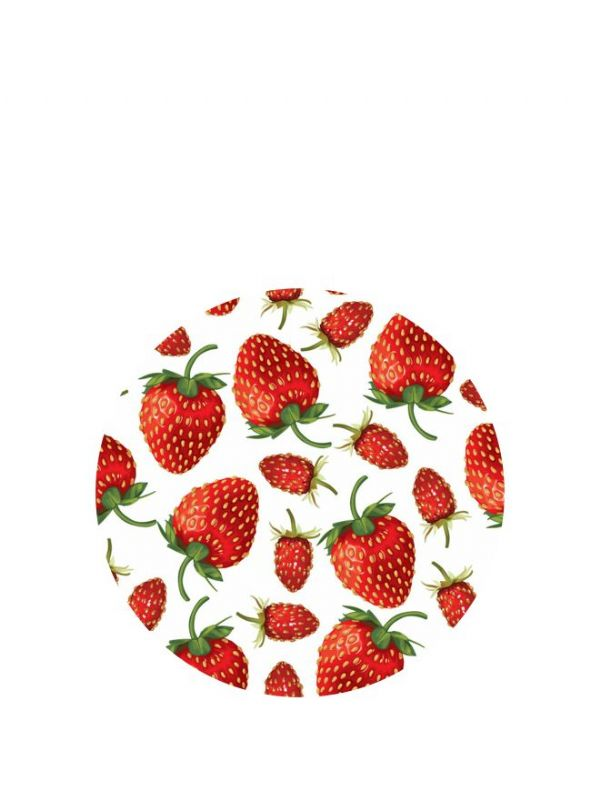 Lid Topper 40mm Strawberry