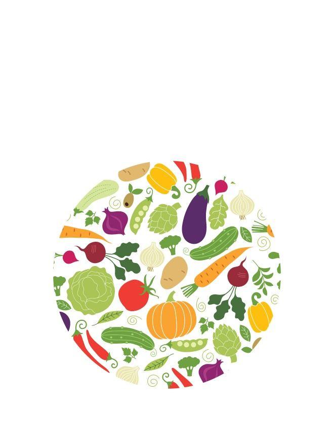 Lid Topper 40mm Summer Vegetables