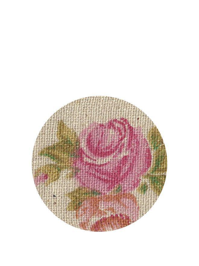 Lid Topper 40mm Vintage Rose