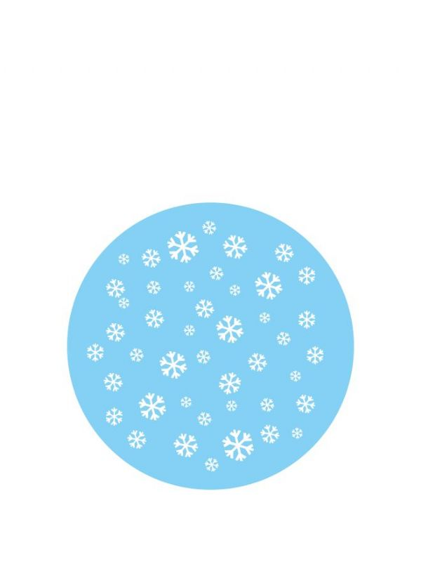 Lid Topper 40mm Christmas Snow
